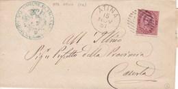 Un Annullo Per Paese Atina (Caserta) Numerale A Sbarre 1881 - 1878-00 Umberto I