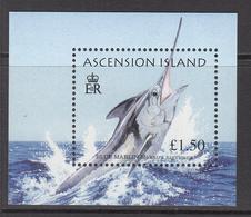 2004 Ascension Marlin Game Fish Souvenir Sheet  Complete Set Of 1 MNH - Ascension (Ile De L')
