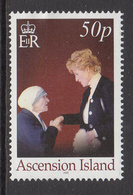 2007 Ascension Mother Teresa Princess Diana  Complete Set Of 1 MNH - Ascension (Ile De L')