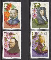 2008 Ascension Botanists And Flowers Fleurs  Complete Set Of 4 MNH - Ascension (Ile De L')