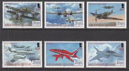 2008 Ascension Royal Airb Force Military Aviation Planes Complete Set Of 6 MNH - Ascension (Ile De L')