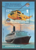 2011 Ascension Royal Air Force Search Rescue Helicopter Cruise Ship Complete Set Of 1 MNH - Ascension (Ile De L')