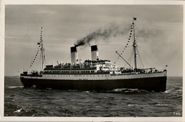 "1936 BARCOS , TARJETA POSTAL CIRCULADA , M.S. "" MONTE OLIVIA "" - Schiffe"