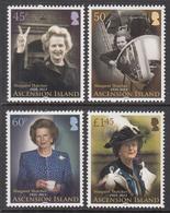 2013 Ascension Margaret Thatcher  Complete Set Of 4 MNH - Ascension (Ile De L')