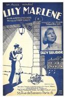 Affiche Lily Marlène Chanson à Succès Pendant La Guerre (2 Scans) - Advertising