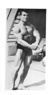 PHOTO  HOMME MAILLOT DE BAIN CULTURISME CULTURISTE  12 X 6.5 CM - Sports