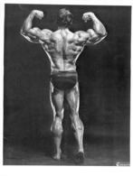 PHOTO HOMME MAILLOT DE BAIN CULTURISME CULTURISTE  PHOTO CARUSO 25 X 19 CM - Sports