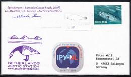 "ARCTIC, NL,Exp. ""Spitsbergen"",2008, 2 ,Cachets- + IPY-Vignette + 2 X Sign !! RARE !!  31.3-47 - Sin Clasificación"