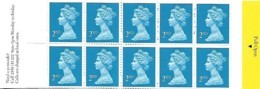 Grande-Bretagne Great Britain 1989 Elizabeth II 10 X 2 ND (blue) House Questa, 1 Carnet Booklet Mnh Pull Open - Carnets