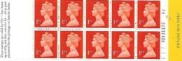 "Grande-Bretagne Great Britain 1996 Elizabeth II 10 X 1 St (orange) ""Put Icing On Morning Post"" , 1 Booklet Carnet Mnh - Carnets"