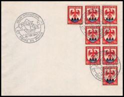 4093 France Lettre (cover) N°758 Nice Bloc 6 X8 Salon International De Philatelie 26/5/1947 - Postmark Collection (Covers)