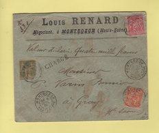 Montbozon - Haute Saone - Valeur Declaree - Charge - 6 Juil 1901 - 1877-1920: Période Semi Moderne
