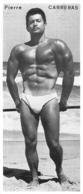 PHOTO  HOMME EN MAILLOT DE BAIN CULTURISME CULTURISTE PIERRE CARRERAS 20 X 8.50 CM - Sports