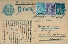 1932, MOZAMBIQUE , ENTERO POSTAL CON FRANQUEO COMPLEMENTARIO CIRCULADO VIA CAPETOWN , LOURENÇO MARQUÉS - OSTERODE - Mozambique