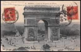 6723 Cachet Paris Plm Gare Banlieue 1920 Durtol Puy-de-Dome France Carte Postale (postcard) - 1877-1920: Période Semi Moderne