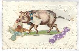 COCHON - Carte Fantaisie - Cochons