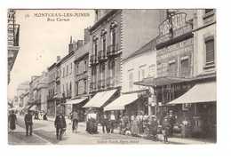 71 Montceau Les Mines Rue Carnot Cpa Carte Animée Boutique Commerce Paris Bazar Edit Didier Viard - Montceau Les Mines