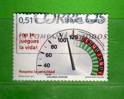 (1Us) )  SPAGNA °- 2012 - NON GIOCARTI LA VITA . - UNIF. 4402.  Vedi Descrizione. - 2011-... Usati