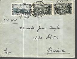 Sarre  SAARGEBIET 1938 Lettre De Saarbrücken Vers Gérardmer 88 - Sarre