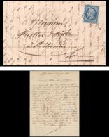 7310 LAC 1861 N 14B Napoleon 20c TB Pc 2520 Pont-Saint-Esprit Gard St Etienne Loire France Lettre Cover - Marcophilie (Lettres)
