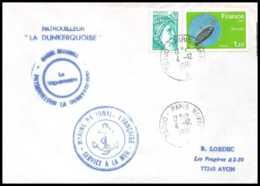 7583 Patrouilleur La Dunkerquoise 1981 Poste Navale Militaire France Lettre (cover) - Marcophilie (Lettres)