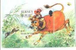 91801) GB-Jersey 1997 Cinesi Capodanno Lunare Del Bue £ 1 Mini-Foglio-MNH** - Jersey