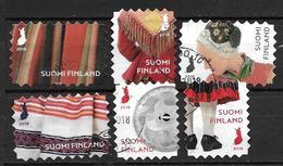 Finlande 2018 N°2543/2548 Oblitérés Costumes Folkloriques - Oblitérés
