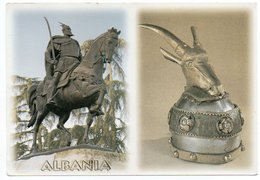 ALBANIE/ALBANIA - THE SKANDERBEG MONUMENT IN TIRANA / TIRANE / THEMATIC STAMP - RED CROSS - Albania