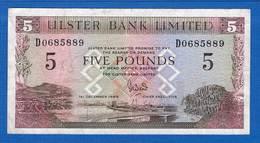 Irelan  Du  Nord  5  Pounds  1/12/1989 - [ 2] Ireland-Northern