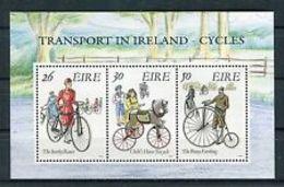 91805) Irlanda/Ireland/Eire1991 BF 8 Trasporti Irlandesi Biciclette -MNH** - Blocchi & Foglietti