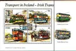 91810) Irlanda 1987 TRAM/trasporto Pubblico/Cavalli/Ferrovia/BUS/AUTOMOBILISMO 4v IN BF -USATO - Blocchi & Foglietti