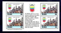 91808) Irlanda 1988, Milenario De Dublín (MNH) 4v IN BF - - Blocchi & Foglietti