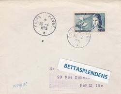 LSC 1955 - Cachet FOIRE Du HAVRE Sur YT 1012  Seul Sur Lettre - Storia Postale