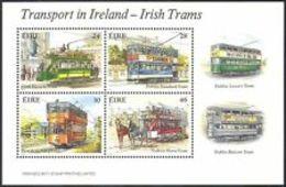 91811) Irlanda 1987 TRAM/trasporto Pubblico/Cavalli/Ferrovia/BUS/AUTOMOBILISMO 4v IN BF -MNH** - Blocchi & Foglietti
