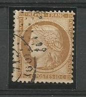 1870 – N°36 - Bistre Jaune - 10 C.- SIEGE DE PARIS - BEAU Oblitération : Cachet à Date Cotation Yvert 2016 : 90 € - 1870 Siege Of Paris