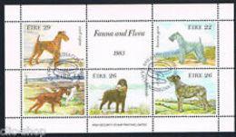 91814) IRLANDA EIRE 1 FOGLIETTO CANI 1983-IN BF-USATO - Blocchi & Foglietti