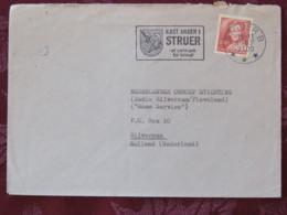 Denmark 1987 Cover Struer (anchor Arms Slogan) To Holland - Queen - Denmark