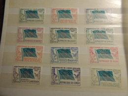 4 PAGES TIMBRES NEUFS** AFRIQUE DIVERS PAYS UNION  AFRICAINE ET MALGACHE EUROPAFRIQUE     NIGER GABON  SENEGAL - Stamps