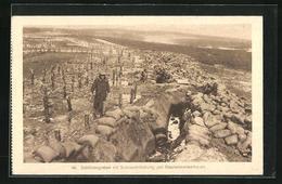 AK Schützengraben Mit Sandsackdeckung Und Stacheldrahtverhaue - Oorlog 1914-18