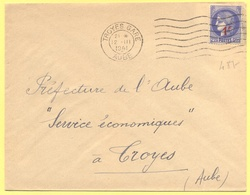 FRANCIA - France - 1941 - 2,25 Cérès Surchargé 1F - Viaggiata Da Troyes Per Troyes - Storia Postale