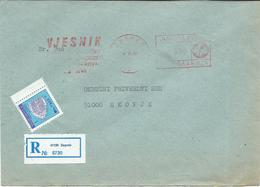 "Yugoslavia EMA Machine Stamp ,,VJESNIK Zagreb "" 1990 - Motive - Newspaper,The Media - 1945-1992 Repubblica Socialista Federale Di Jugoslavia"