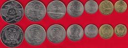 Sao Tome And Principe Set Of 7 Coins: 50 Centimos - 50 Dobras 1977-1990 UNC - Sao Tome And Principe