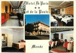 """/ CPSM FRANCE 48 """"Mende, Hôtel De Paris Et De La Poste"""" - Mende"""