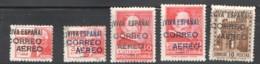 Burgos  Sellos Ed 74-7, 80 * - Emisiones Repúblicanas