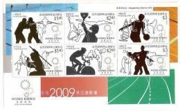 Hong Kong 2009 East Asian Games S/s Basketball Badminton Cycling Table Tennis Soccer Shooting Taekwondo Weightlifting - 1997-... Chinese Admnistrative Region
