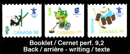 Canada (Scott No.2311-13i - Olympiques D'hiver / Vancouver 2010 / Winter Olympics) (**) BK - NOTE - Hiver 2010: Vancouver