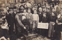 PARIS LES HALLES 1908 VEUVE COLLET CARTE PHOTO - France