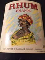 1 Étiquette RHUM Yolanda - Ets Domise Et Gaillard - CAMBRAI - Rhum