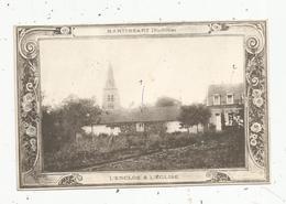 Cp, 80 ,  MARTINSART ,l'enclos Et L'église , écrite - Autres Communes
