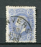 Belgien Nr.28       O  Used       (944) - 1869-1883 Leopold II.